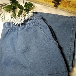 DENIM & CO PULL ON 1X JEANS